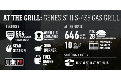 Weber Genesis II S-435 Technical Specifications