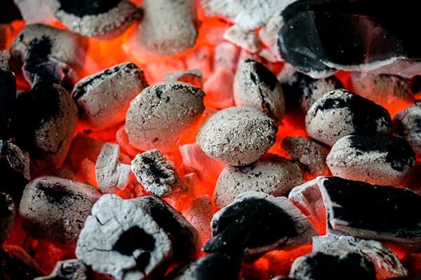Red hot coal